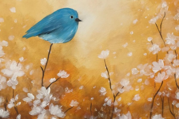Bluebird & Blossoms Paint Party