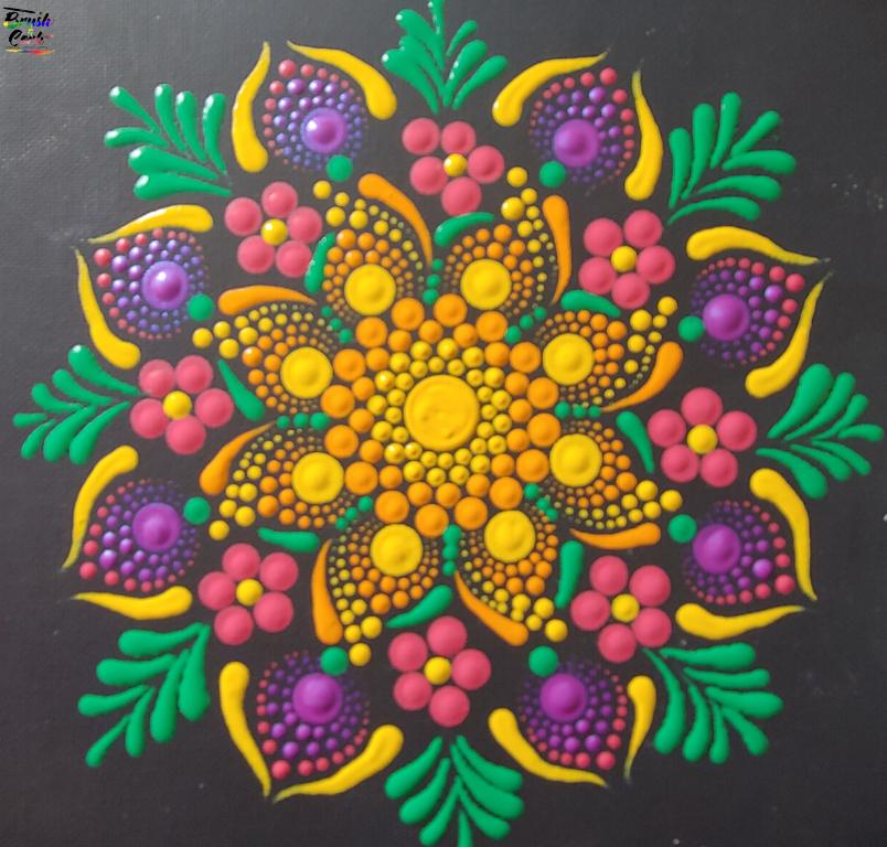 Mandala Bouquet Dot Painting