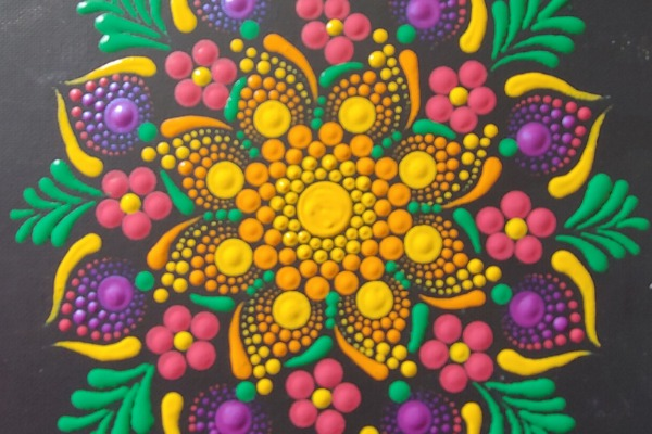 Mandala Bouquet Dot Painting