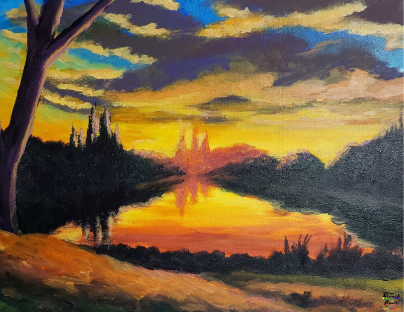 Mountain Sunset Paint Party