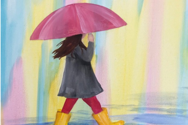 Kids & Grown-Ups Rainy Day Girl Paint Party