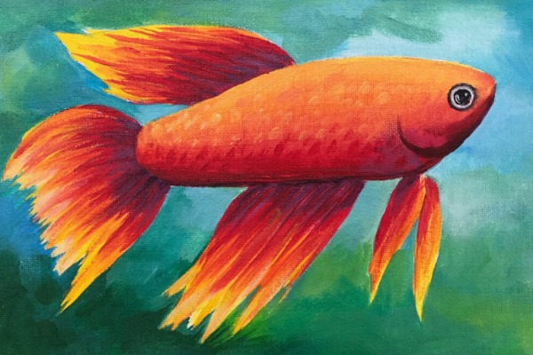 Kids & Grown-Ups Beta Fish Paint Party